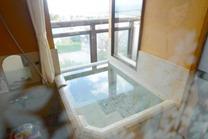 客室露天風呂、展望風呂