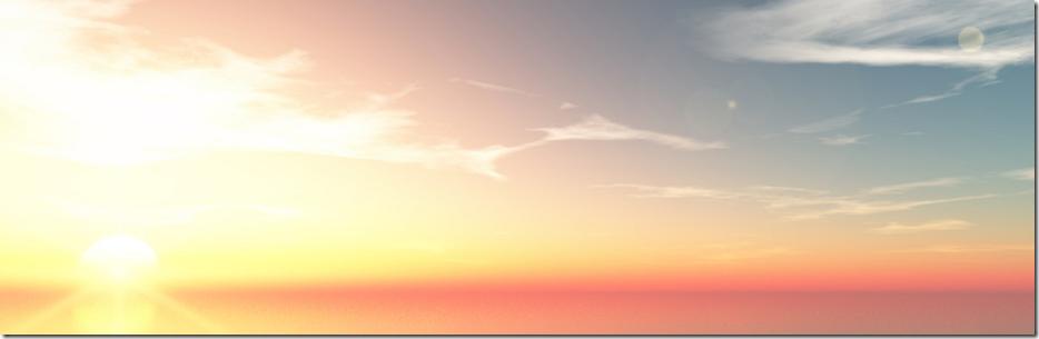 海からの朝日イメージ1