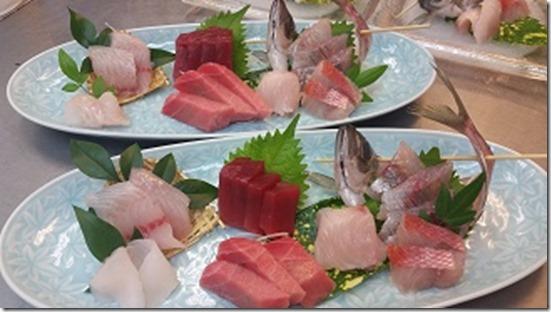本鮪2品と伊豆地魚5品刺身盛