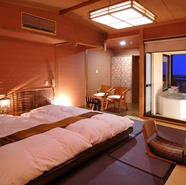 露天風呂付きオリエンタル和室正方形