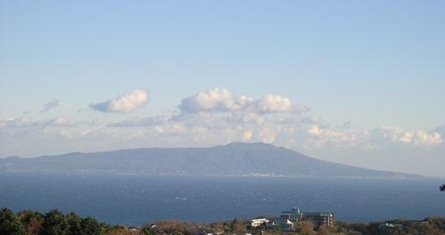 特別室バリルーム からみる伊豆大島